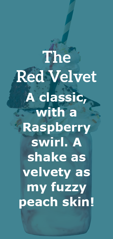 The Red Velvet Crazy Shake Description